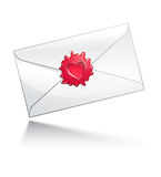 Valentine's Day letter. Illustration: Valentine's Day letter with heart-shaped seal. Additional format: EPS10 Stock Images