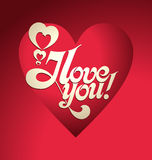 Valentine's Day lettering Royalty Free Stock Images