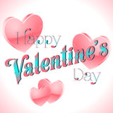 Valentine's Day Lettering Card. Happy Valentine's Day Lettering Greeting Card, Vector Illustration Royalty Free Stock Photo