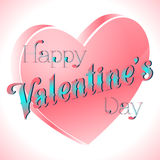 Valentine's Day Lettering Card. Happy Valentine's Day Lettering Greeting Card, Vector Illustration Stock Photography
