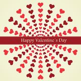 Valentines Day lettering Greeting Card Royalty Free Stock Photos