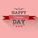 Valentine's Day lettering greeting card Royalty Free Stock Photography