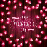 Valentine`s Day Lights Royalty Free Stock Image