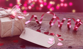 Valentine's Day little gift on table Stock Image