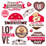 Valentine`s day logos Stock Photo