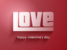 Valentine's Day love background Royalty Free Stock Images