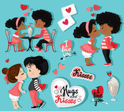 Valentine`s Day. Love card. Collection of couples in love. Stock Images