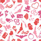 Valentine's day and love color pattern  Royalty Free Stock Image
