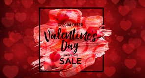 Valentine`s Day Love and Feelings Sale Background Design. Vector illustration Royalty Free Stock Photography
