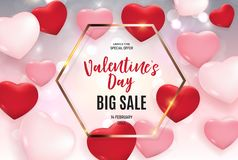 Valentine\'s Day Love and Feelings Sale Background Design. Vector illustration