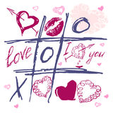 Valentine's day. Love heart. Hand-drawn icons. The valentine's day. Love heart. Hand-drawn vector icons. print Royalty Free Stock Photos