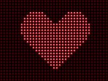 Valentine's day love heart light Stock Photo