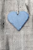 Valentine's Day love heart on rustic style background Stock Photo