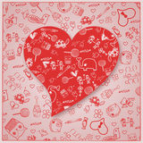 Valentine`s Day love - Hearts - Doodles collection Stock Photo