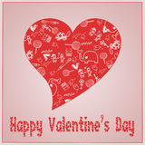 Valentine`s Day love - Hearts - Doodles collection Royalty Free Stock Image
