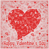 Valentine`s Day love - Hearts - Doodles collection Stock Image