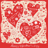 Valentine``s Day love - Hearts - Doodles collection. Valentine``s Day - Hearts - Doodles collection Royalty Free Stock Images