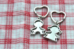 Valentine's Day Love Key Chains Stock Image