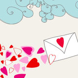 Valentine's Day love letter Royalty Free Stock Photos