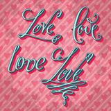Valentine's day love lettering Royalty Free Stock Photography