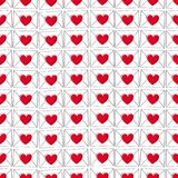 Valentine`s day love letters seamless pattern. Doodle style. Love background Stock Image