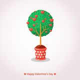 Valentine's Day Love Tree. Royalty Free Stock Photography