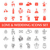 Valentine's day, Love and Wedding icons set Stock Images
