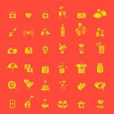 Valentine's day, Love and Wedding icons set Royalty Free Stock Photography