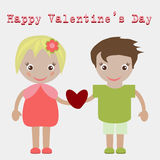Valentine'S Day. Lovely girl and boy taking a Photo Royalty Free Stock Photos