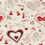 Valentine's day lovely seamless texture Stock Photos