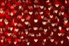Valentine`s Day. Many hearts on a red background. royalty free stock photography