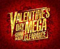 Valentine`s day mega clearance, sale design Royalty Free Stock Photos