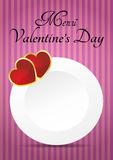 Valentine's day menu Royalty Free Stock Photo
