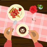 Valentine`s day menu Royalty Free Stock Image