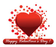 Valentine's Day message Royalty Free Stock Photos