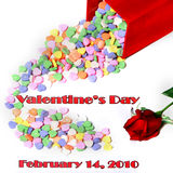 Valentine's Day message with date Stock Image