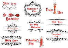 Valentine's Day messages and headlines Royalty Free Stock Images