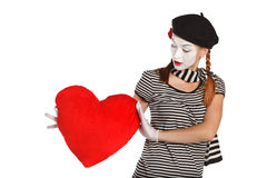 Valentine's day mime portrait Stock Photo