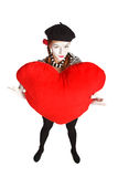 Valentine's day mime portrait Stock Photography