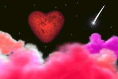 Valentine's day moon Royalty Free Stock Image