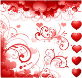 Valentine's day motifs Royalty Free Stock Images