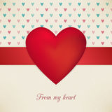 Valentine's Day from my heart retro poster. Card design Royalty Free Illustration