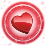 Valentine's Day Neon Heart Bubbles Stock Image