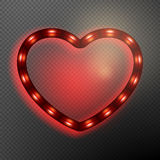 Valentine s Day neon heart. EPS 10 Royalty Free Stock Image