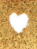 Lovely Heart on paddy floor. A Valentines day Note for Lover concept royalty free illustration
