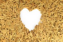 Lovely Heart on paddy floor Royalty Free Stock Images