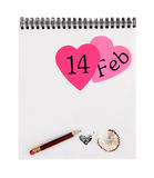 Valentines day notepad Royalty Free Stock Photos