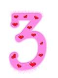 Valentine's day numeral - 3 Stock Photo