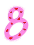 Valentine's day numeral - 8 Stock Image