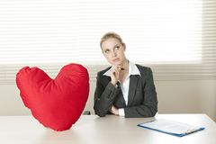Valentine's day in the office Stock Photo